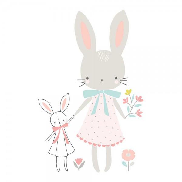 Lilipinso Wandsticker XL Hasenmädchen mit Blumen