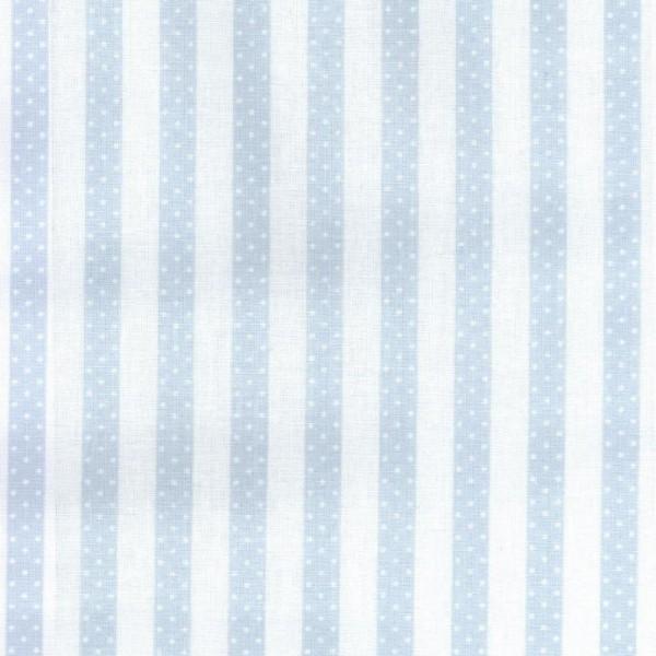Casadeco Punkte Streifenstoff blau Jules & Julie