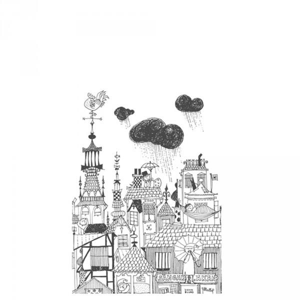 Boras Tapeter Wandbild Ingalunda schwarz weiß