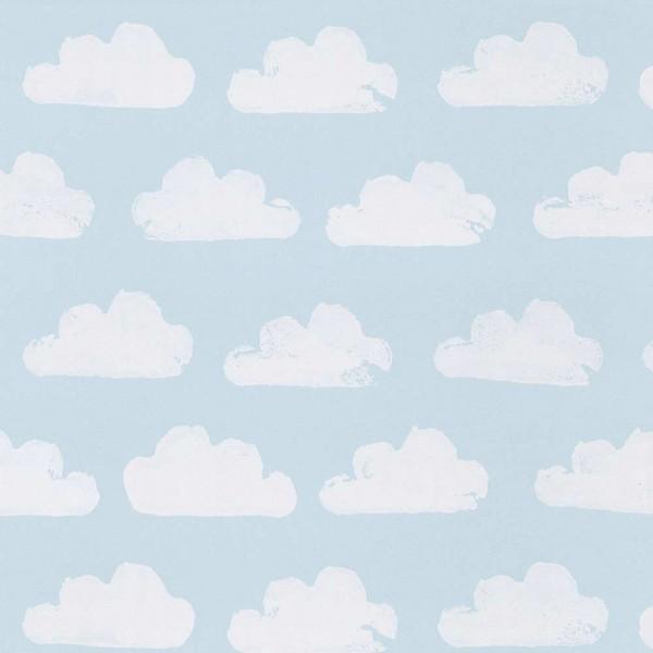 Eijffinger Tout Petit Kindertapete Wolken hellblau weiss