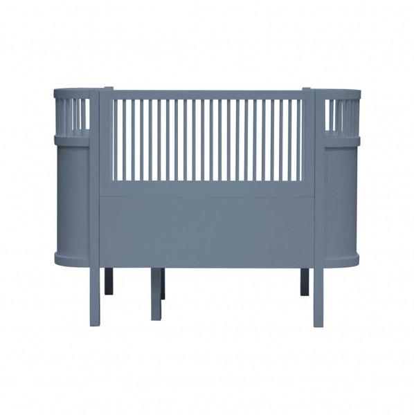 Sebra Babybett und Juniorbett Holz dunkelblau