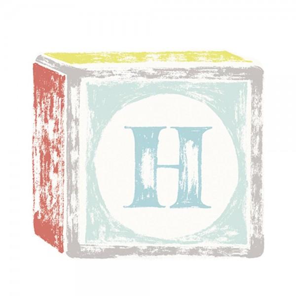 Lilipinso Sticker Buchstabe auf Spielwürfel H