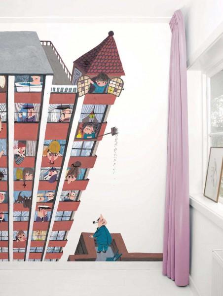Kek Amsterdam Tapeten Wandbild Hochhaus