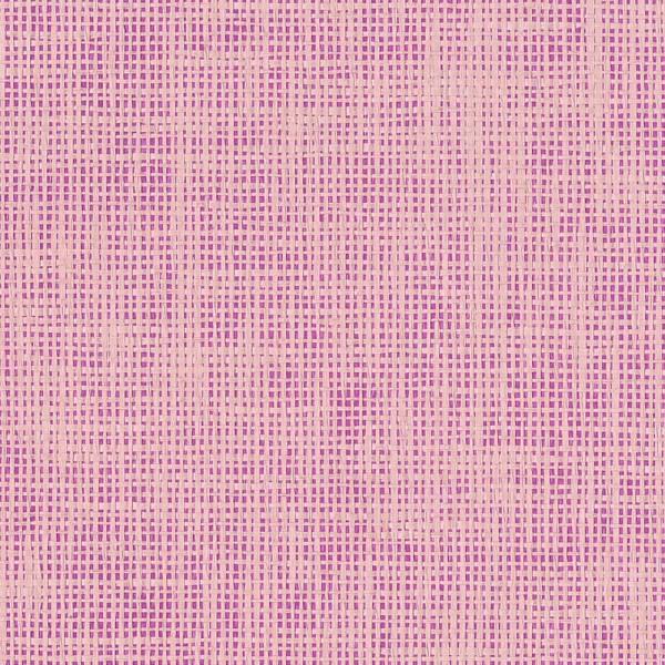 Rice Tapete pink metallic mit Raffiabast in rosa