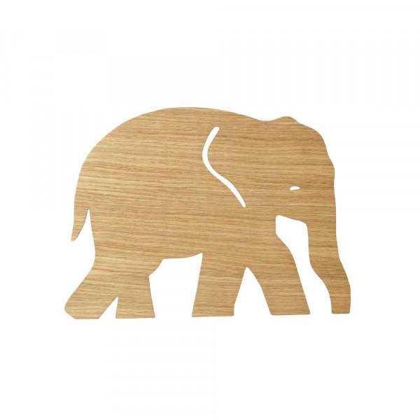 Ferm Living Wandlampe Elefant Eiche geölt