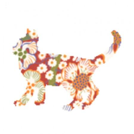 Inke Tapetentier Katze Exotic rot