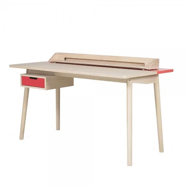 Harto Schreibtisch Honoré Eiche & rot