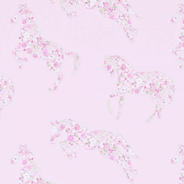 Little Sanderson Abracazoo Tapete Blumen Pferde rosa