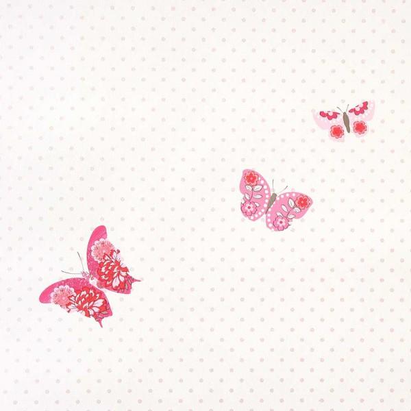 Caselio Girls only Tapete Schmetterlinge rot pink