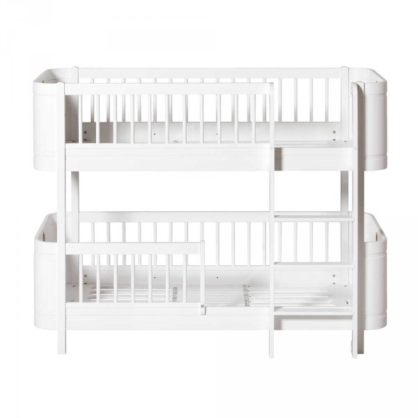 Oliver Furniture Wood Mini+ Umbauset halbhohes Hochbett zu Etagenbett weiss
