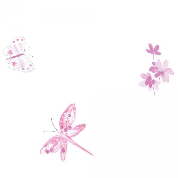 Caselio Ohlala Tapete Schmetterlinge & Libellen rosa pink lila