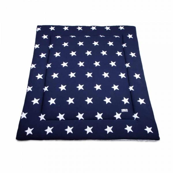 Baby's Only Laufgitter Einlage / Krabbeldecke gestrickt Sterne dunkelblau