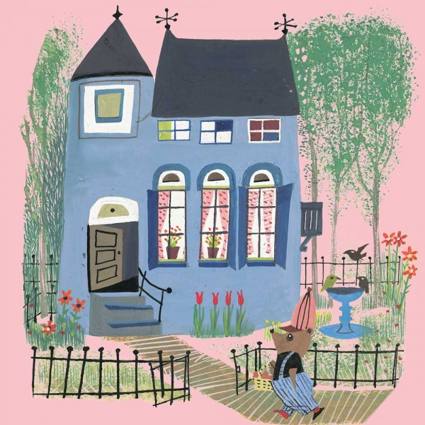 Kek Amsterdam Kinderposter blaues Haus & Bär