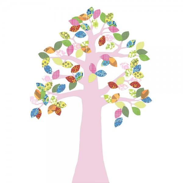 inke tapetenbaum 2 stamm rosa blätter bunt