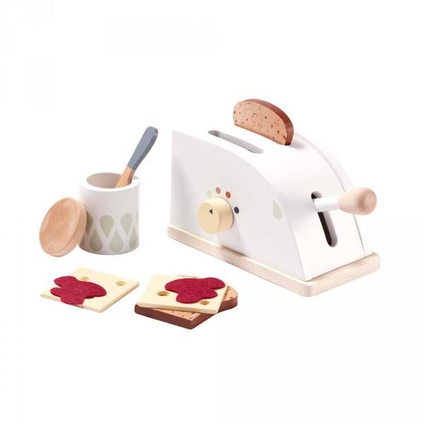 Kids Concept Spiel Toaster aus Holz mit Zubehör