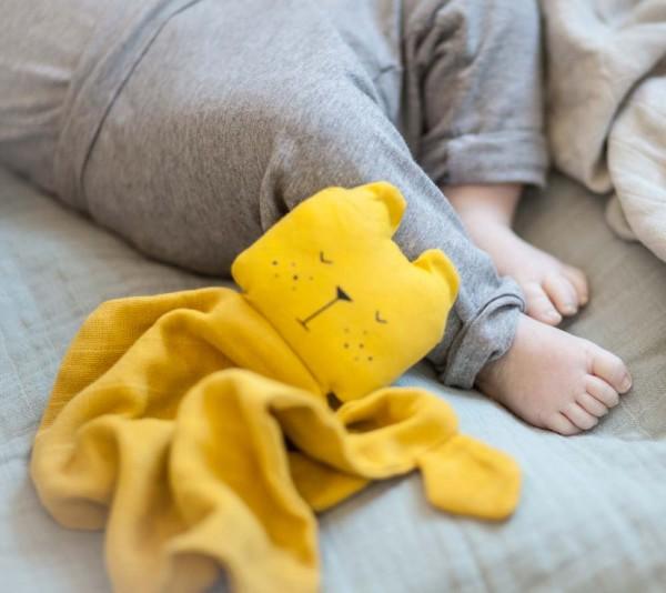 Fabelab Baby Schmusetuch Bär gelb
