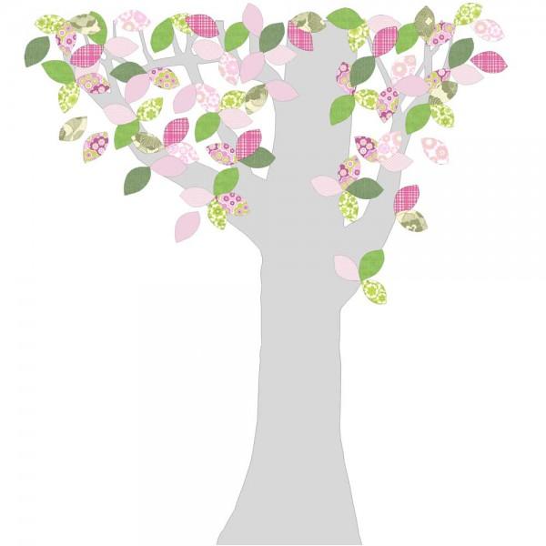 Inke Tapetenbaum Silberstamm grün/rosa