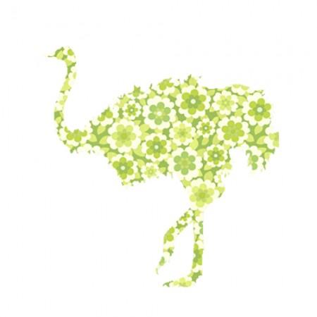 Inke Tapetentier Strauss Blumen grün