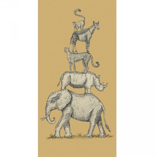 Eijffinger Wandbild Safari Tiere ocker