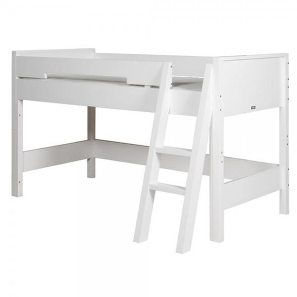 Bopita Combiflex halbhohes Bett weiß mit Leiter