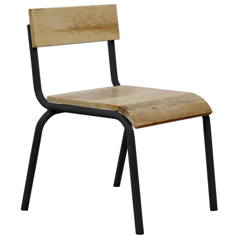 kidsdepot stuhl metall holz schwarz bei kinder r ume. Black Bedroom Furniture Sets. Home Design Ideas