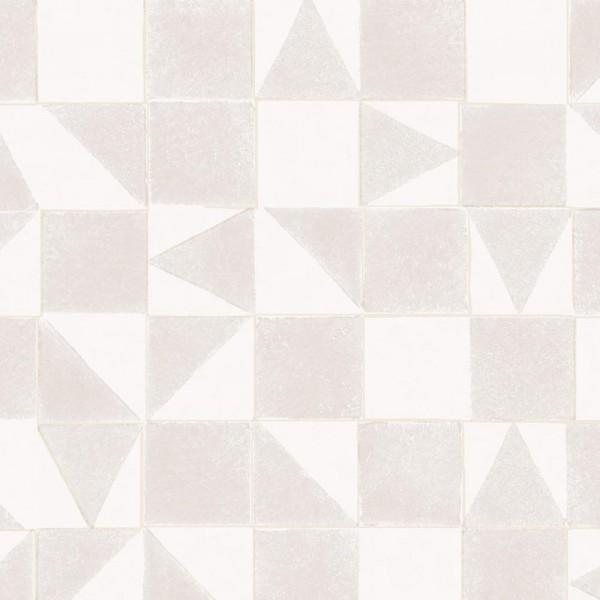 Eijffinger Mini Me Tapete Mosaik grau gold