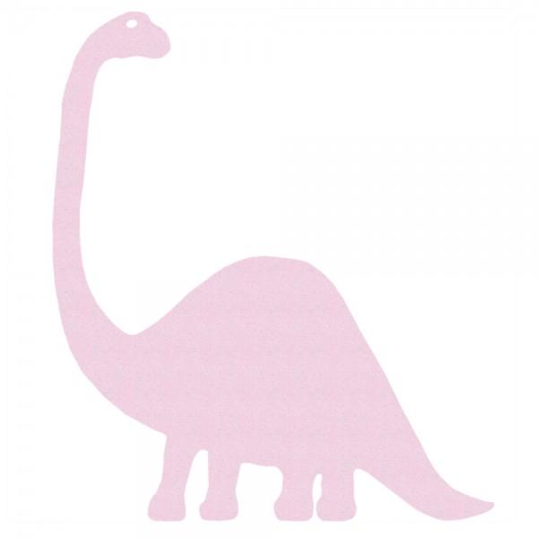 Inke Tapeten Dinosaurier Brontosaurus uni rosa