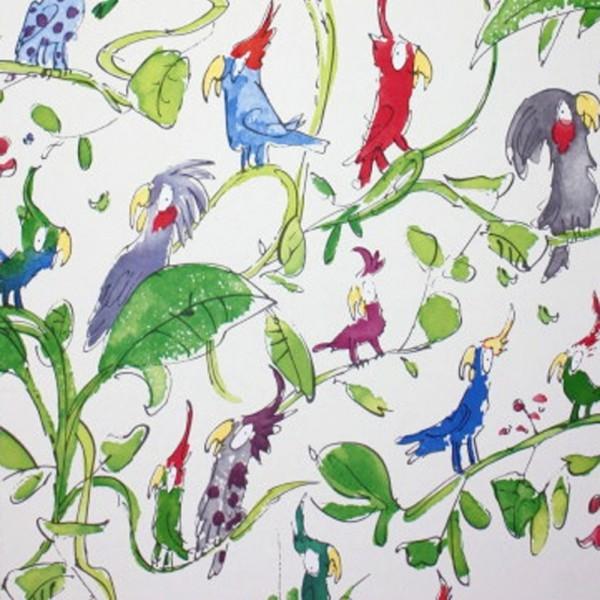 Osborne & Little Tapete Kakadu blau grün