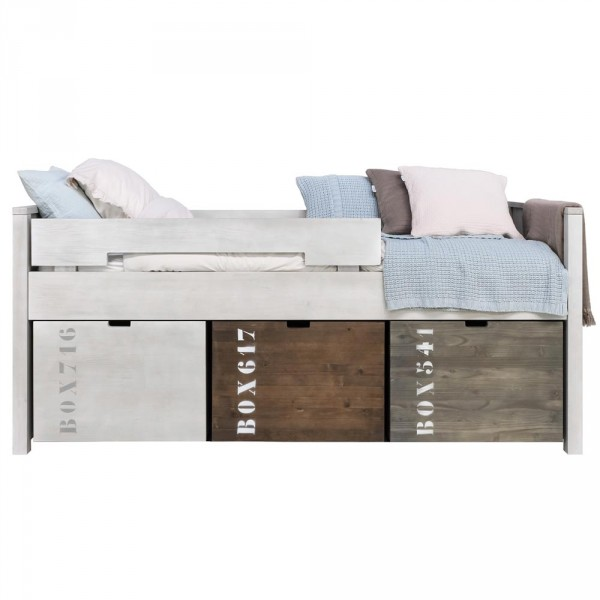 Bopita Basic Wood Kompaktbett white wash 90 x 200
