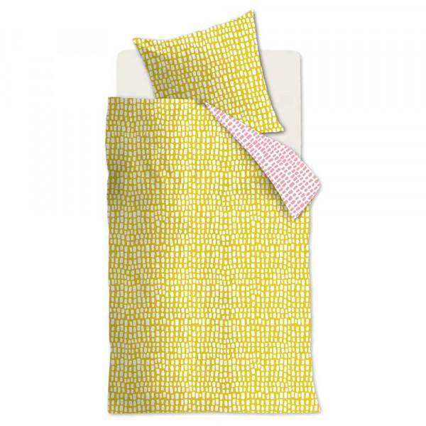 Beddinghouse Wendebettwäsche Sverre gelb rosa 135 x 200