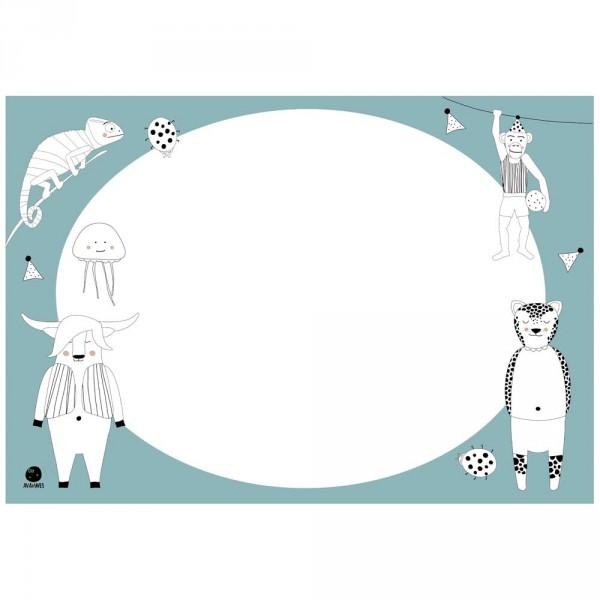 Ava & Yves Tischset / Schreibunterlage Ausmal Tiere