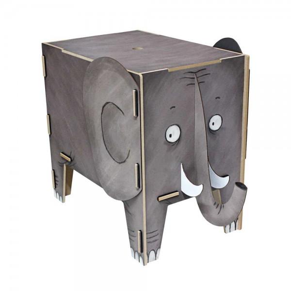 Werkhaus Kinderhocker Vierbeiner Elefant