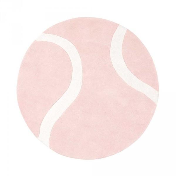 Lilipinso Teppich Tennisball rund rosa