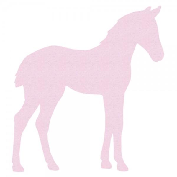 Inke Tapetentier Fohlen uni rosa