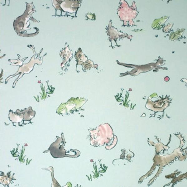 Osborne & Little Tapete Tiere aqua