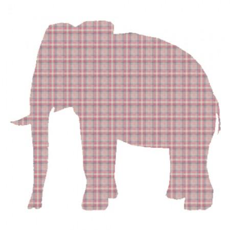 Inke Tapetentier Elefant Karo rot