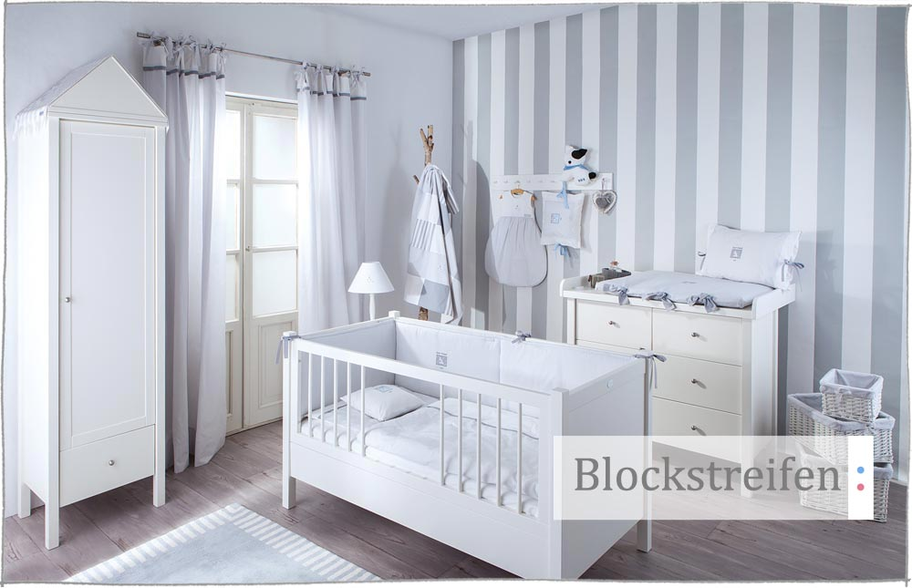 babyzimmer wandgestaltung streifen. Black Bedroom Furniture Sets. Home Design Ideas