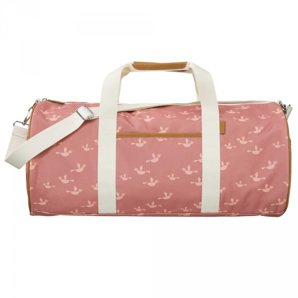 Fresk grosse Reisetasche Vögel rosa