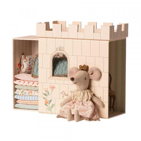 Maileg Maus Prinzessin auf der Erbse mit Schloss