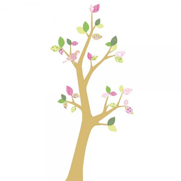 Inke Tapetenbaum 3 Stamm gold Blätter rosa grün