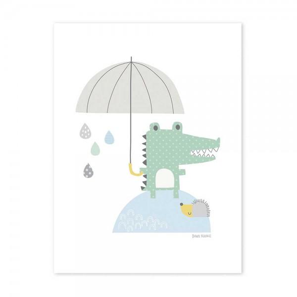Lilipinso Poster Krokodil mit Schirm