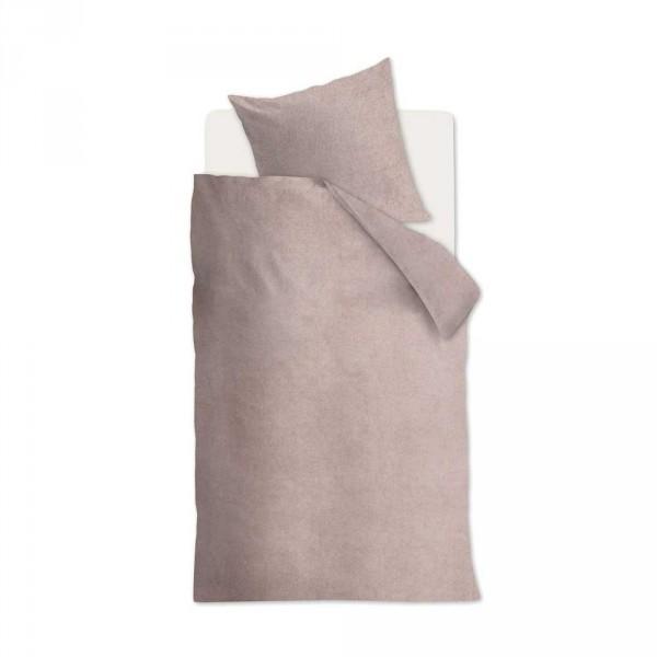 Beddinghouse Flanell Kinderbettwäsche Frost uni rosa 135 x 200