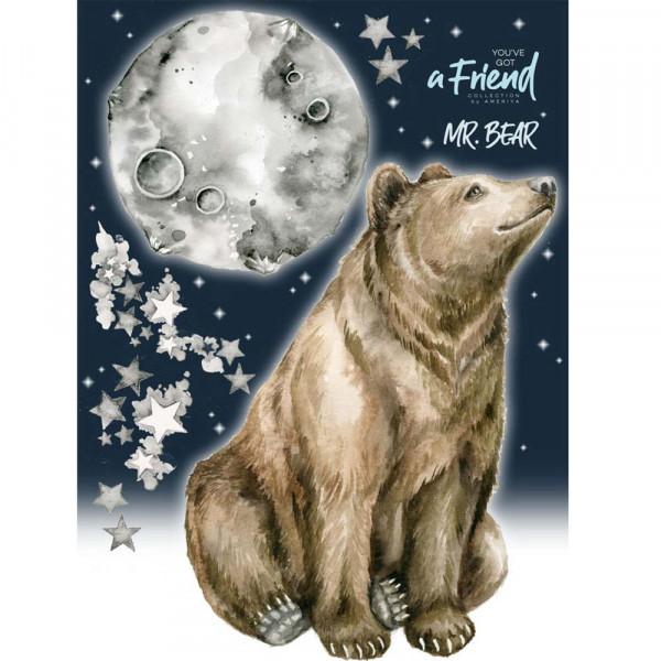 Dekornik Wandsticker Bär & Mond