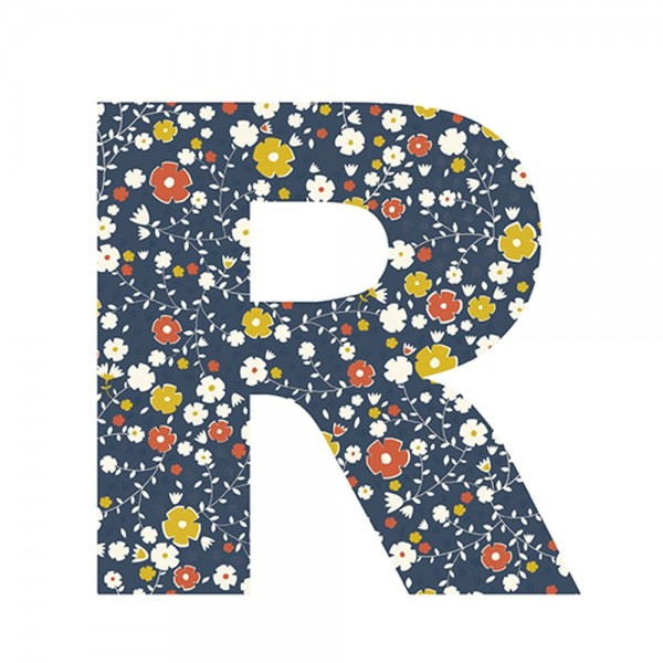 Lilipinso Sticker Buchstabe geblümt R