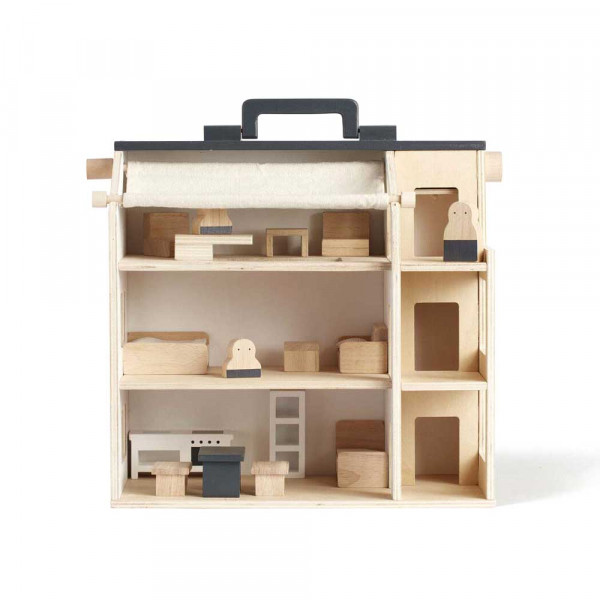 Kids Concept Spielzeug Puppenhaus tragbar Holz