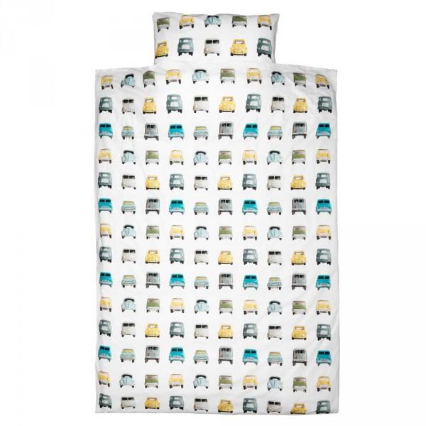 Studio Ditte Kinderbettwäsche Autos 100 x 135 cm