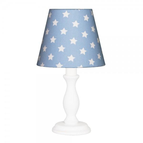 Nordika Lampenschirm blau Sterne weiß w1