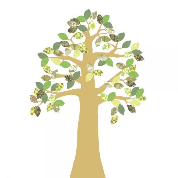 Inke Tapetenbaum gold grün