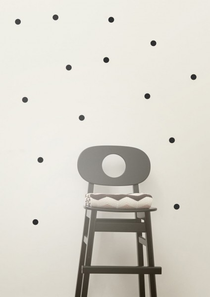 Ferm Living mini Wandsticker Punkte schwarz