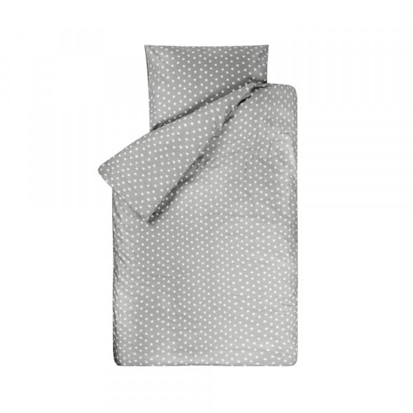 Bink Kinderbettwäsche Sterne grau 100 x 135